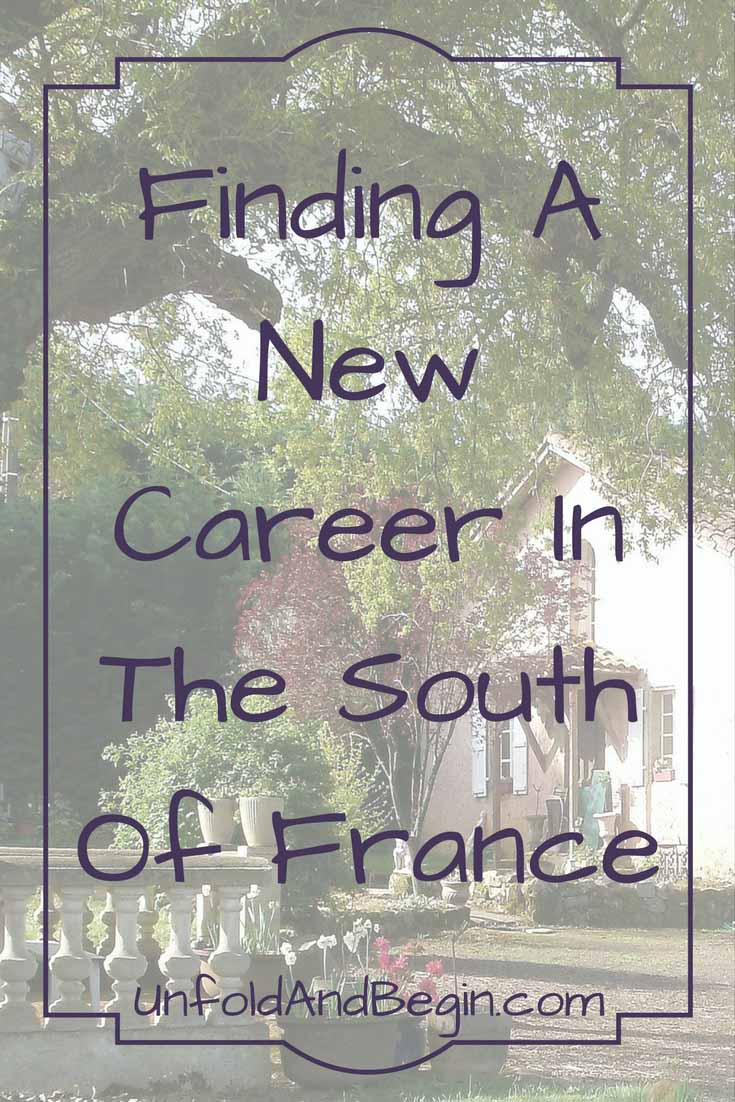 With too much stress exacerbating a debilitating eye condition, she reduced stress by finding in a new career in the South of France on UnfoldAndBegin.com