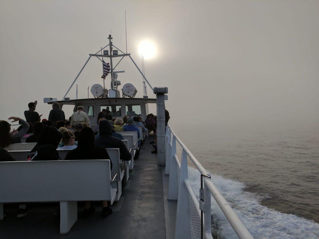 Foggy trip back to port on UnfoldAndBegin.com