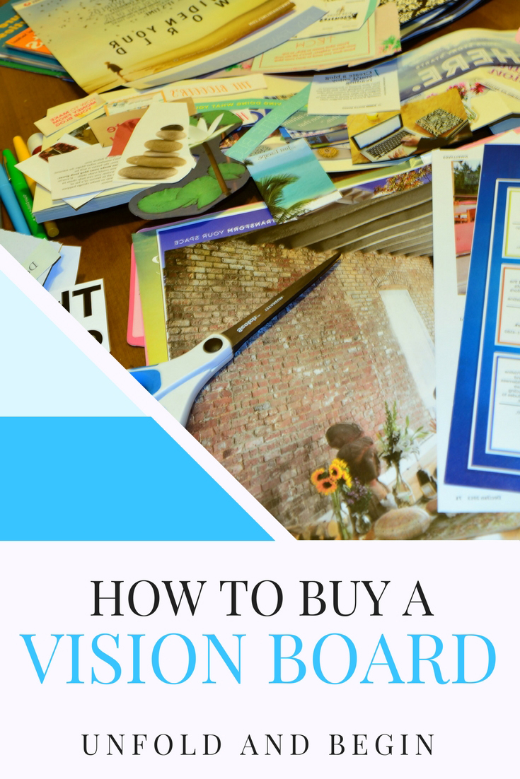 People have been querying how to buy a Vision Board and I'll share with you how you can buy the supplies and even kits to make your own Vision Board on UnfoldAndBegin.com