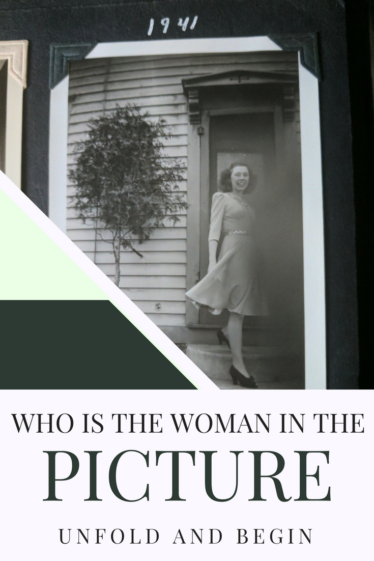 A young woman steps off a porch...what's her story? Who is the woman in the picture?  A new creativity prompt on UnfoldAndBegin.com #creativityprompt #creativeinspiration #pictureprompt