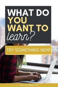 Try something new and go back to school with online learning #onlinelearning #skillshare #masterclass #learnsomethingnew #trysomethingnew