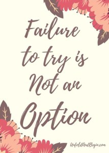 Failure is a stepping stone to learning #FailureIsAnOption #DontBeAfraidToFail #TryNewThings #PracticePracticePractice