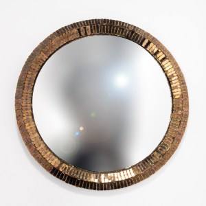 Couronne by Line Vautrin, Talosel mirror with a bronze mirrors-embedded frame - 001