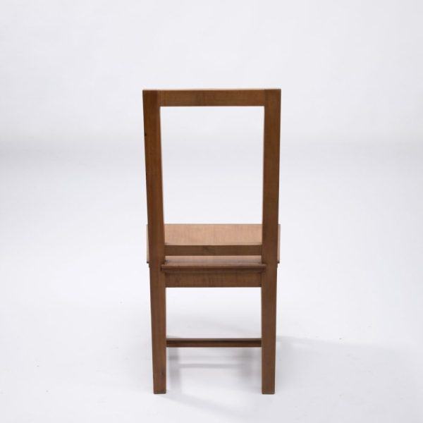 Pair of cherry wood chairs by André Arbus -img04