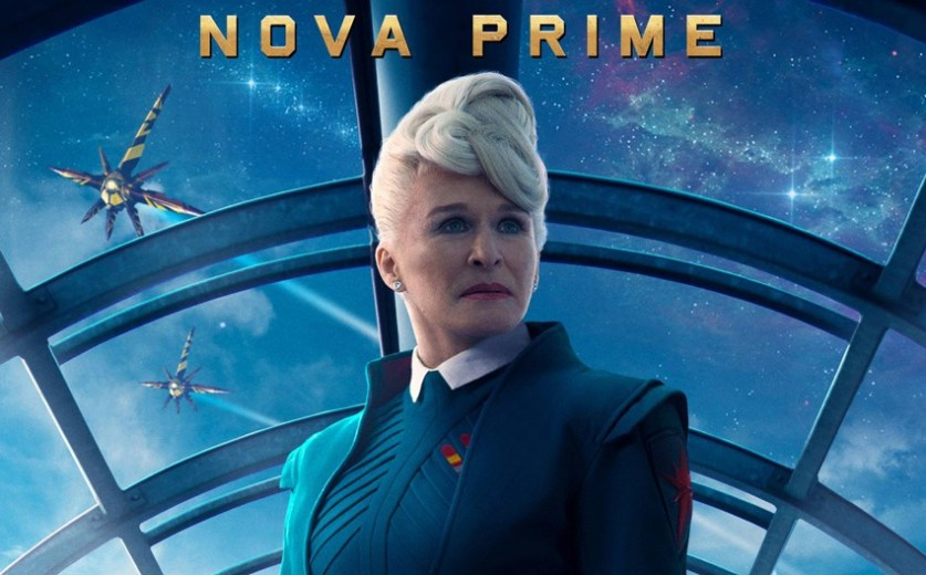 Glenn Close plays Nova Prime -- head of the Nova Corps.