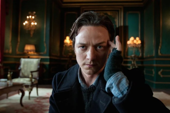 James McAvoy as the younger Professor X