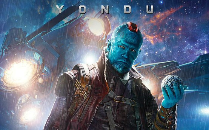 Michael Rooker plays Yondu, space smuggler and father figure to Chris Pratt' class=