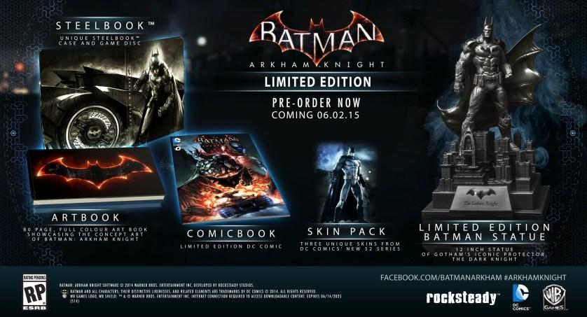 Batman: Arkham Knight Limited Edition Set.