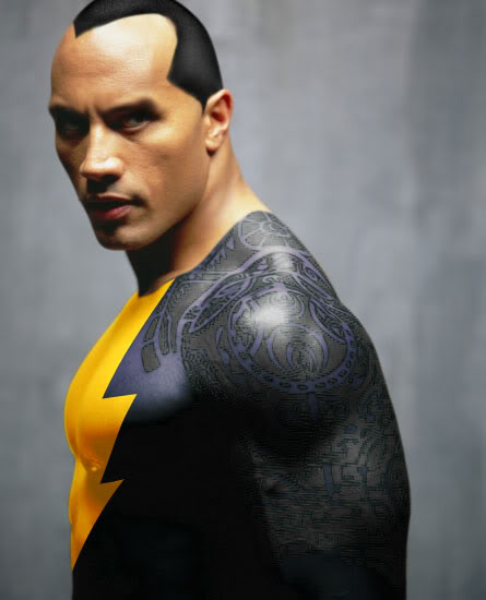 """A fanart interpretation of Dwayne """"The Rock"""" Johnson as Black Adam... And it looks very convincing to boot."""