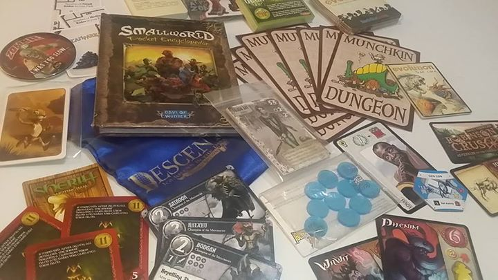 You may get awesome boardgame goodies for simply going to the event!