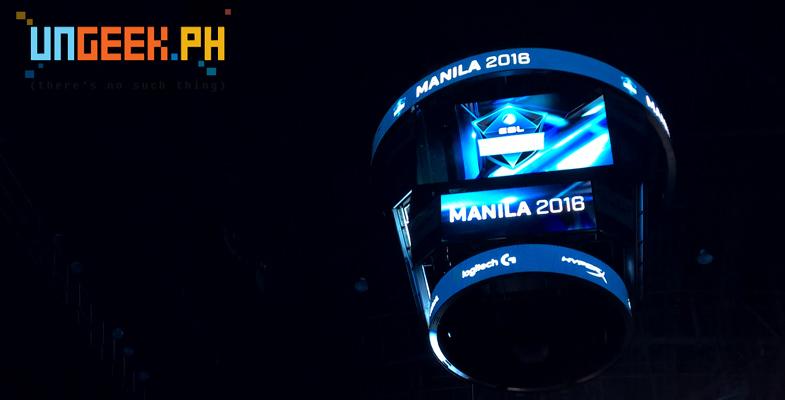 ESL One Manila sign
