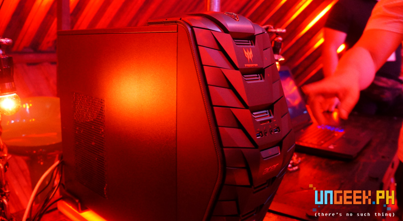 The Predator G3-710 is their powerhouse of a gaming rig. And it looks quite menacing as well!