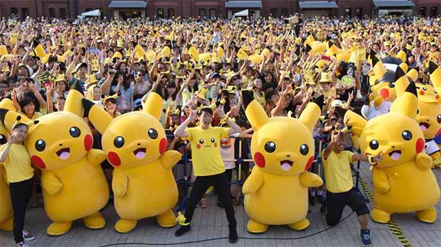 'Pikachu Outbreak' event in Yokohama