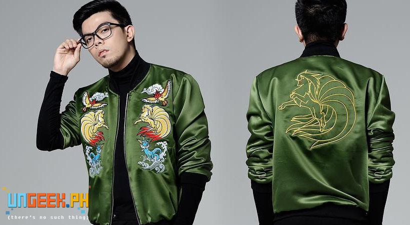 PokeJacket Designer Eugene David poses with his creation