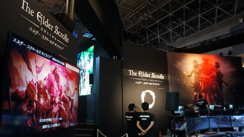 There's a huge Bethesda booth here as well