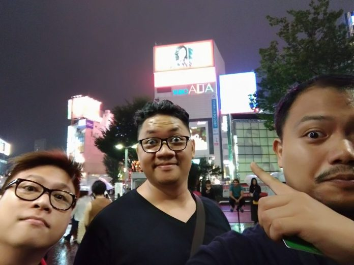 The boys are out and about at Shinjuku!