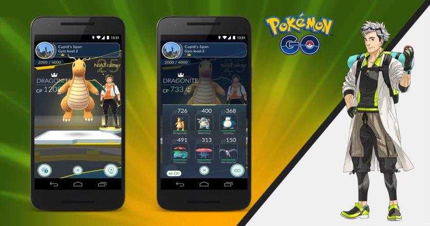 Pokémon GO new improvement at Gym Trainings