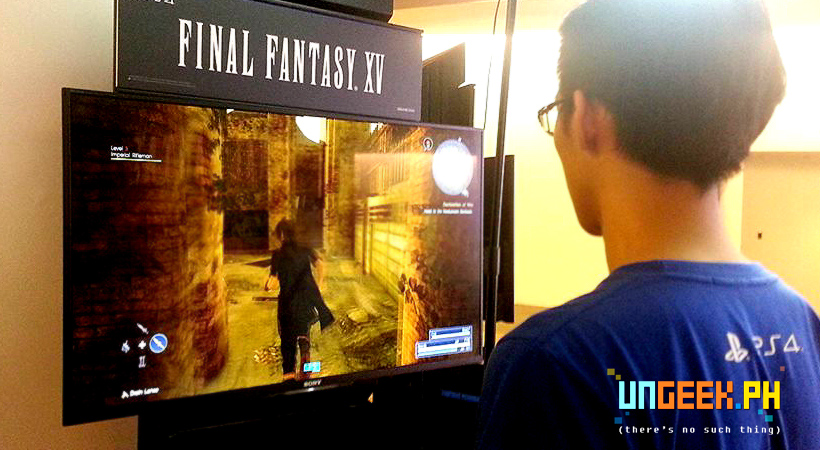 People can play test Final Fantasy XV outside the concert hall