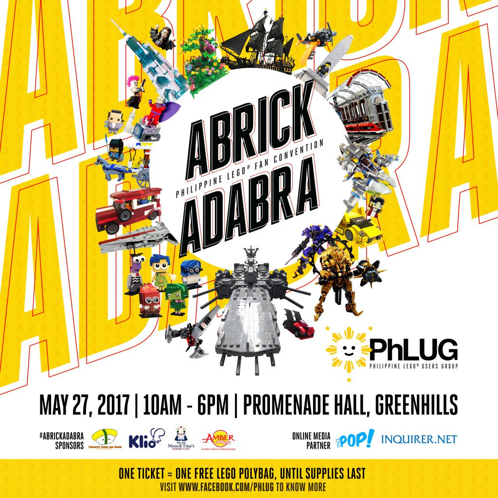 """Happening Tomorrow: """"ABRICKADABRA 2017"""", the Biggest LEGO Fan Convention in the Philippines"""