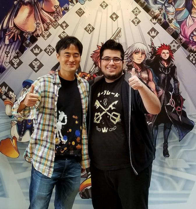ZeRo standing beside KH3 co-director Tai Yasue!