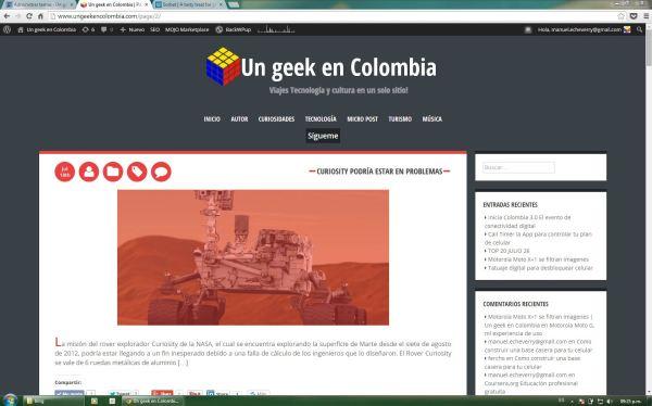Un geek En Colombia, Tecnología cultura y viajes en un solo sitio!