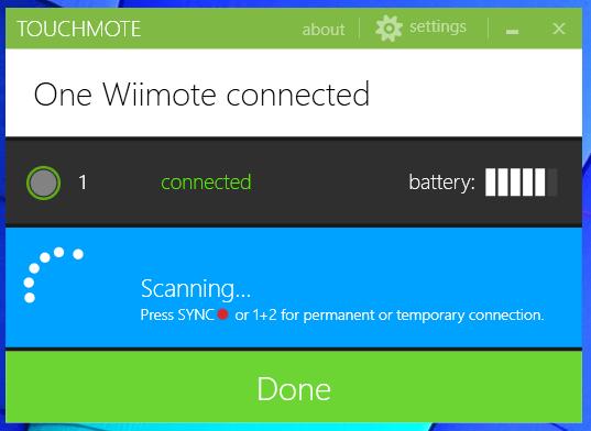 WiiMote TouchMote