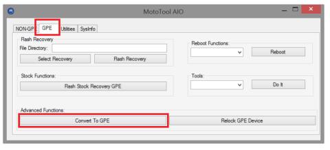 Convertir Moto g a Moto g GPE y recibe la OTA a Lollipop 5.1 (XT1032)