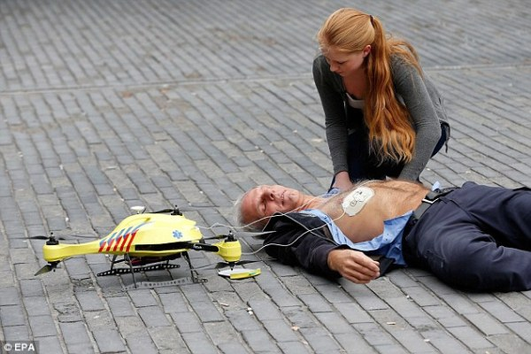 dron ambulancia