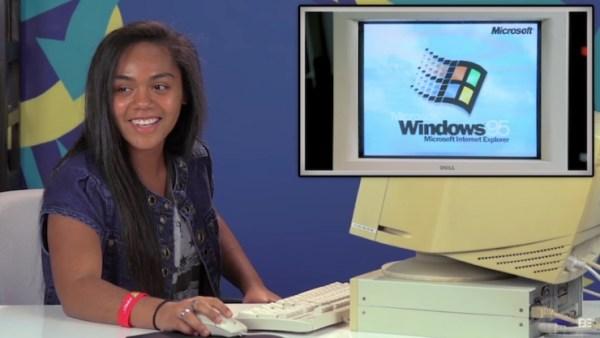 Mira lo que pasa cuando jóvenes menores de 20 se enfrentan a una PC con Windows 95
