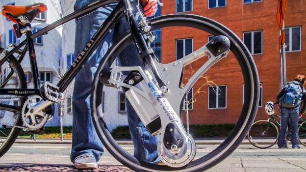 GeoOrbital Wheel transforma cualquier bicicleta en eléctrica en 1 minuto