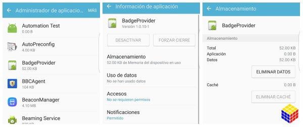 """Como solucionar el error """"Badgeprovider se detuvo"""" en Android"""