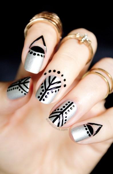 Unghie Fashion: Nail Art Argento! 25 Suggerimenti Per Decorazioni Unghie