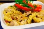 Fusilli med kylling i pestosaus