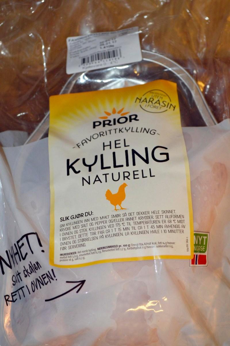 Narasinfri hel kylling fra Prior