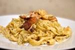 Kremet pasta med torsk og bacon