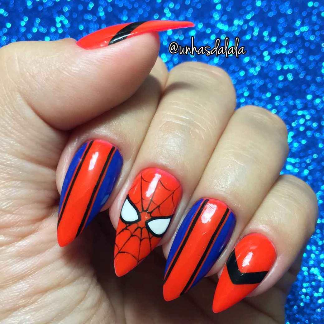 Unhas Decoradas Homem Aranha