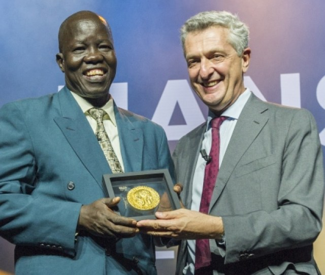 Unhcr And The Nansen Refugee Award Partners Honour The Award Winner At A Dignified Ceremony In Geneva Switzerland At The Ceremony The Winner Is Presented