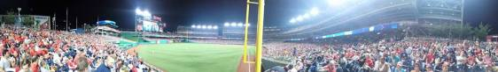 May 28: 360-degree view from section 106, Nationals Park.