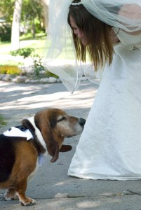 Boof, on my wedding day, with my wife.