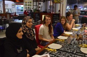 Meeting with members of a young persons think tank.
