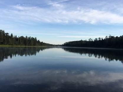 August 15: Lake Itasca morning.