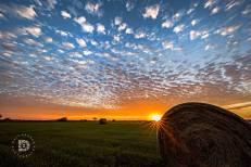 October 7: A gorgeous sunset near Mountain, N.D.