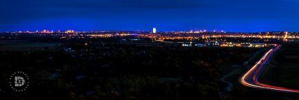 October 4: Bismarck city lights.