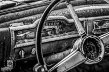 October 16: Inside image of the dash in this old abandoned Plymouth.