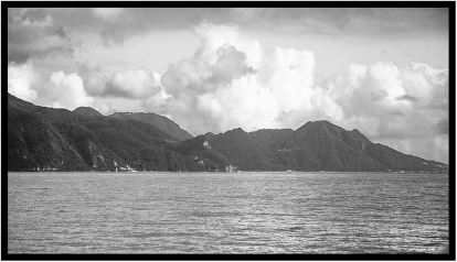December 5: The island of Dominica, photographed in monochrome a couple of weeks ago.