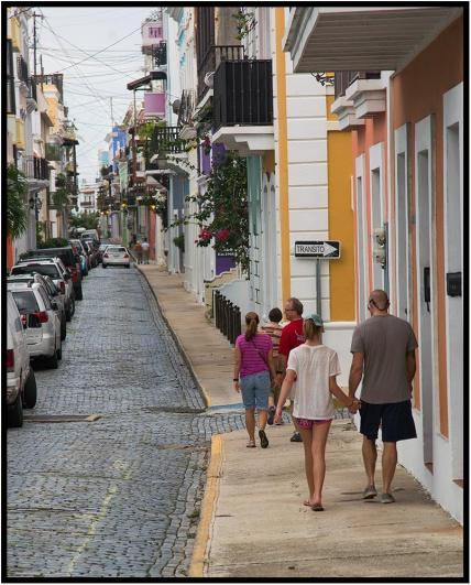 December 1: Our gang exploring the Old Town neighborhoods of San Juan, Puerto Rico, on Nov. 23. I liked it a lot and would enjoy seeing more of the country some day. On this trip, it was a stopover on the way to and from the island of Dominica, which had its own charms.