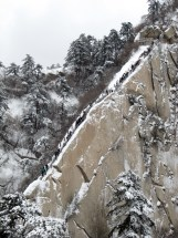 Mount Hua is famous for its steep, narrow trails.