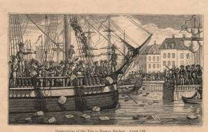 Boston white people pretending to be Indians protesting economic oppression — because they dumped tea into the bay are they never allowed to drink tea again? Besides, you are polluting the bay: How can we believe you love liberty and lower taxes? When you clean up the harbor we'll talk, OK?