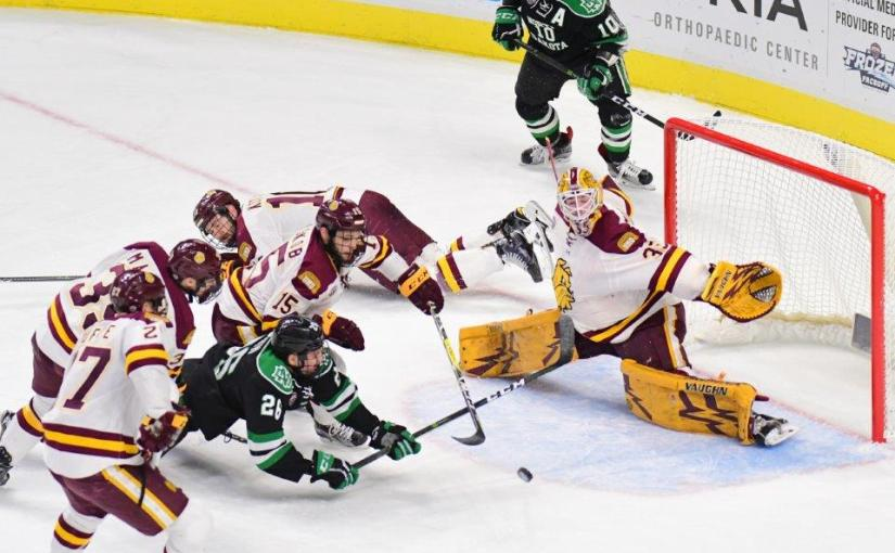 RUSS HONS: Photo Gallery — NCHC Frozen Faceoff: University Of North Dakota vs. University Of Minnesota-Duluth