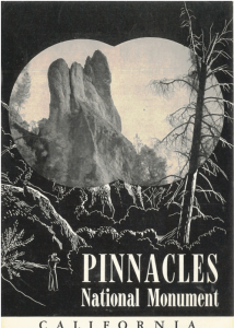 The California look. Historic brochure for Pinnacles National Monument.